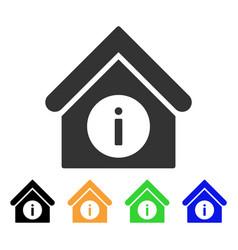 Info building icon vector