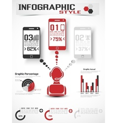 INFOGRAPHIC MODERN STYLE MOBILE vector image vector image