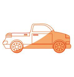 Isolated van car vector