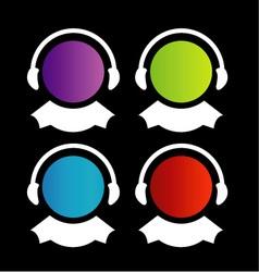 logo for customer care center vector image
