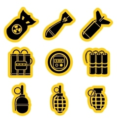 Military stikers set vector image vector image