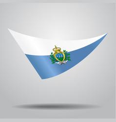 San marino flag background vector
