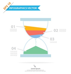 Sandclock Infographics vector image