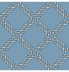 Seamless nautical rope knot pattern vector