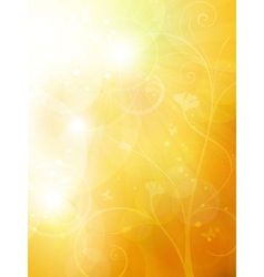 Soft golden sunny summer vector image vector image