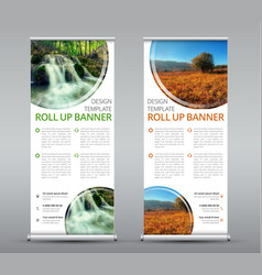 template of a vertical roll up banner for vector image