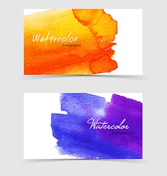 Watercolor design cards vector image vector image