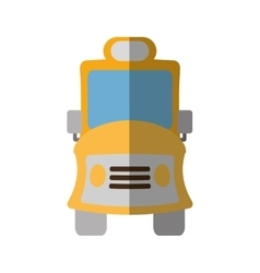 yellow school bus transport pupils shadow vector image