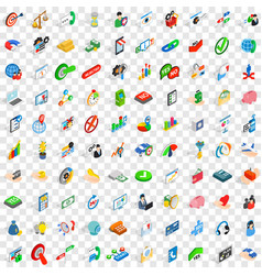 100 business payment icons set isometric 3d style vector