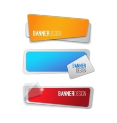 Creative realistic abstract banner design vector