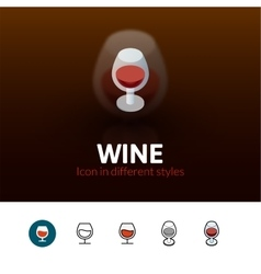 Wine icon in different style vector