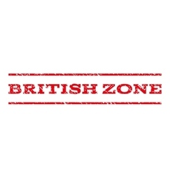 British zone watermark stamp vector