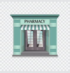 Pharmacy building vector