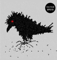 crow raven character vector image
