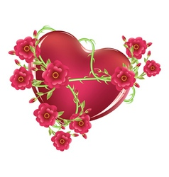 Heart with roses2 vector