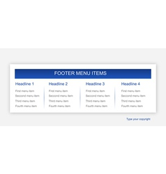 Footer layout vector