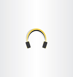 Headphones icon music vector