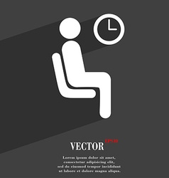 Waiting icon symbol flat modern web design with vector
