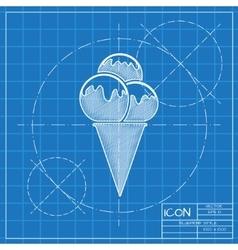Ice-cream icon eps10 vector