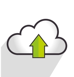 Cloud computing marketing vector