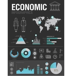 economic infographic vector image