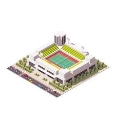 isometric tennis arena vector image