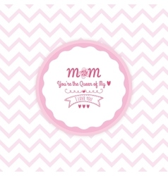 Mother day label vector