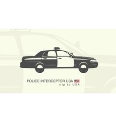 A car police interceptor vector