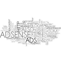 Adsense alternatives for your blog part text word vector