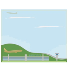 Airport in clear weather vector