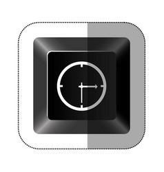 black button clock icon vector image