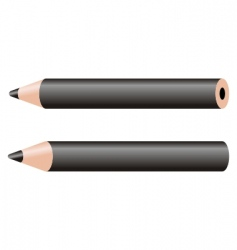 black pencil vector image vector image