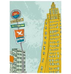 City Sketch Drawing vector image vector image