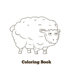 Coloring book sheep cartoon educational vector image vector image