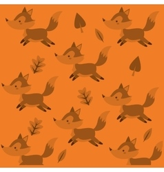 cute fox pattern background image vector image