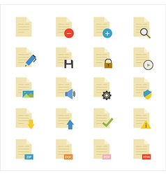Document flat icons color vector