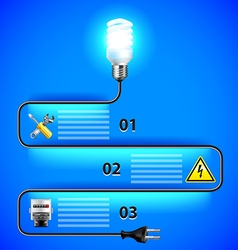 Electricity infographics energy saving light bulb vector