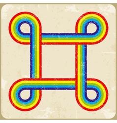 Grunge frame rainbow background vector image