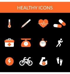 Healthy icons vector image vector image
