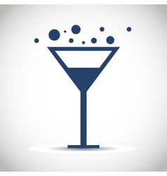 Icon glass wine vector image