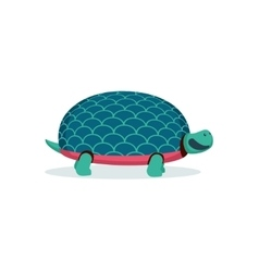 Isolated on white cartoon turtle vector