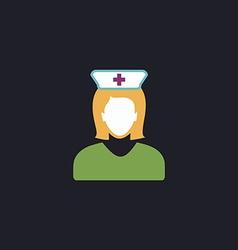 Nurse computer symbol vector image