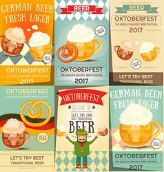 Oktoberfest beer festival posters set vector