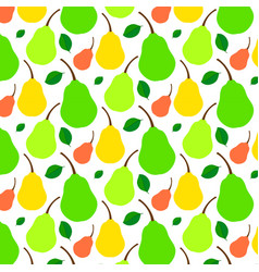 pattern juicy ripe pear vector image vector image