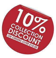 peeling sticker Discount vector image