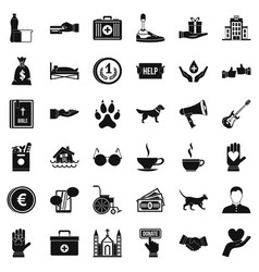 Protection icons set simple style vector