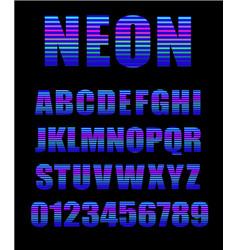 retro style neon tube glow typeface latin neon vector image