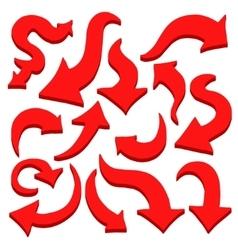 Set of arrow vector image vector image