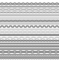 Set of vintage borders for design vector image