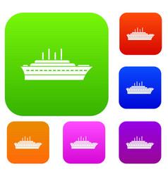 ship set collection vector image